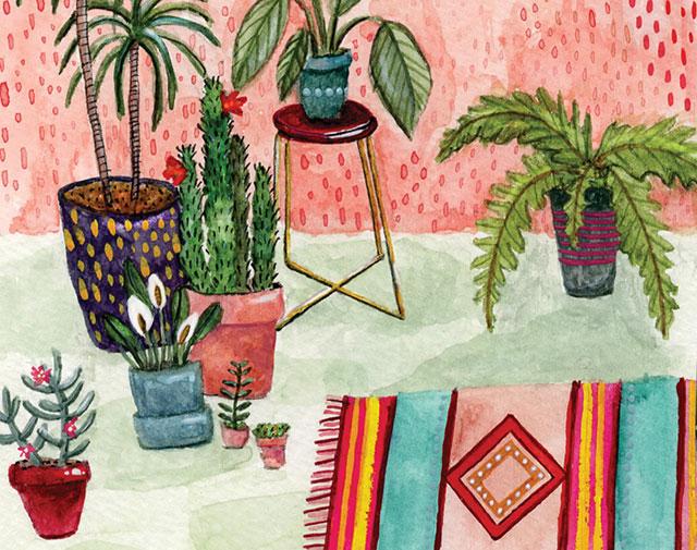 Indoor Plants Print