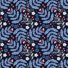 BLUE AND RED FLORAL