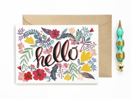 CARD_Hello_floral