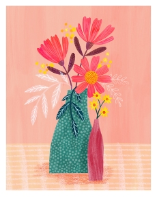 Vase and flowers